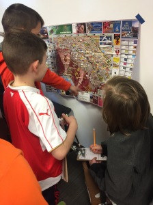 Observing, analyzing, and noticing components of various maps.
