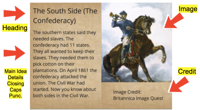 Ask your child to show you his/her Book Creator book about The Civil War!